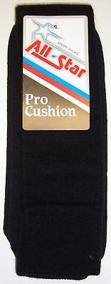 All Star AP-22 Pro Cushion Team Socks Size 8-10 BLACK 1 DOZEN Pairs Team Pack