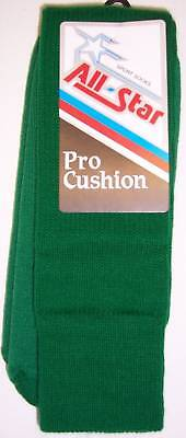 All Star AP-18 Pro Cushion Team Socks Size 6-9 KELLY GREEN 1 DOZEN Team Pack