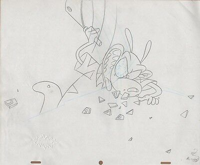 ROCKO'S MODERN LIFE Cell Original Production Cel Drawing Nickelodeon Seal COA
