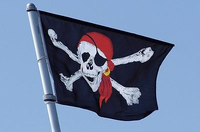 Pirate Flag 3x5 ft Calico Flag Balloween Jolly Roger Skull Flag Polyester Banner