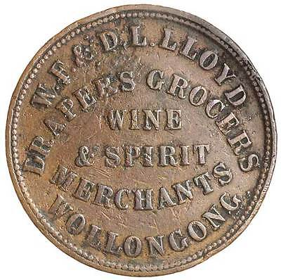 Llyod, W.F & D.L 1859 Wollongong penny. R 328, R6 rating. Fine, rare