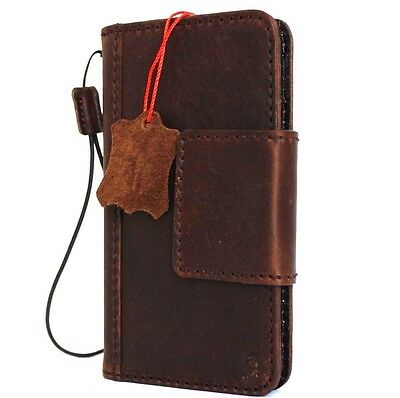 genuine natural leather Davis Case for apple iphone 6 6s plus book wallet cover