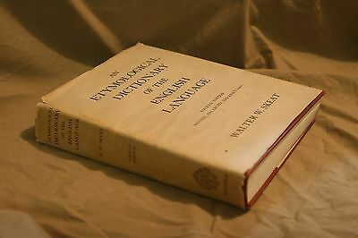 Vintage version of Antique ETYMOLOGICAL DICTIONARY 4th Edition Hardcover 1968