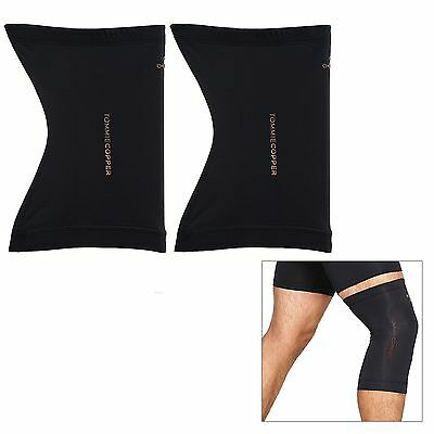 Tommie Copper Pair of Core Copper Infused Compression Knee Sleeves L New