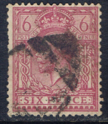 Great Britain #167(8) 1912 6 pence rose lilac George V Used CV$6.50