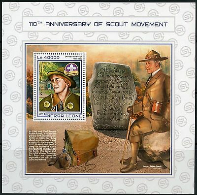 SIERRA LEONE 2017 110th ANNIVERSARY OF THE SCOUT MOVEMENT SOUVENIR SHEET MINT NH