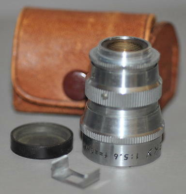 Steky Telephoto Lens Sun Tele 40mm f 5.6 with VF Mask and Case