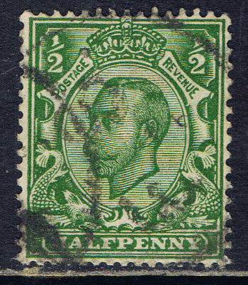 Great Britain #153(10) 1912 1/2 pence green King George V Used SCV$4.50