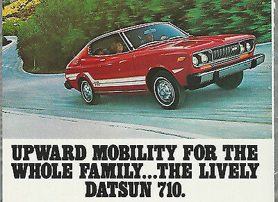 1976 DATSUN 710  advertisement, Datsun 710 hatchback ad, red hatchback