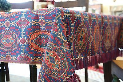"Syrian tablecloth fabric textile Moroccan Middleeastern Arabian Turkish 96"" Long"