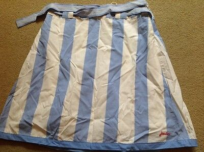 Joules blue and white stripe skirt 11 - 12 years BNWT