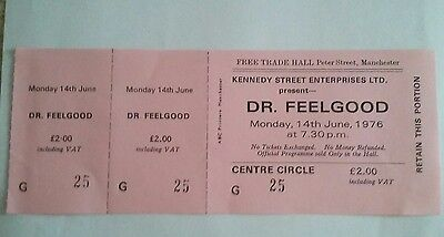 Dr Feelgood  unused concert ticket  from the free trades hall manchester.