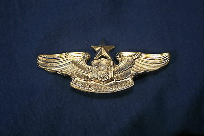 1960's novelty Junior NASA Astronaut wing metal 3 inch pin back