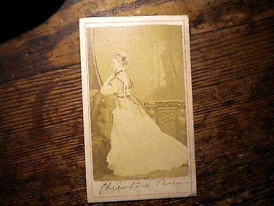 Signed-Chrishana Pearson-Famous Person-1860S-Cdv-Photo-By-Sarony