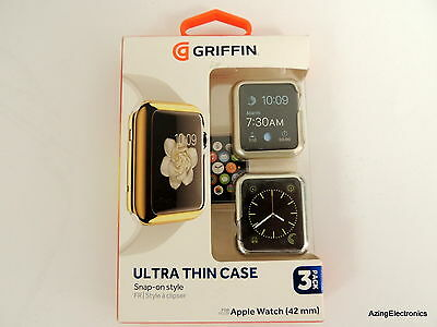 Griffin Ultra Thin Snap-On Case For The Apple Watch 42Mm - 3 Pack
