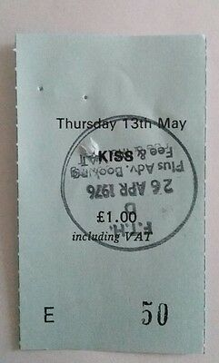 Kiss   used concert ticket stub  from the free trades hall manchester.