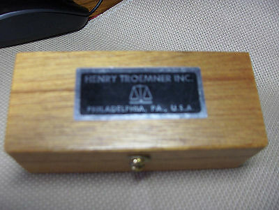 Henry Troemner, Phila., VINTAGE APOTHECARY BRASS WEIGHTS, Wood Box, Complete Set