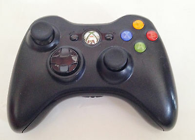 Official Microsoft Xbox 360 Black Wireless Controller Control Pad