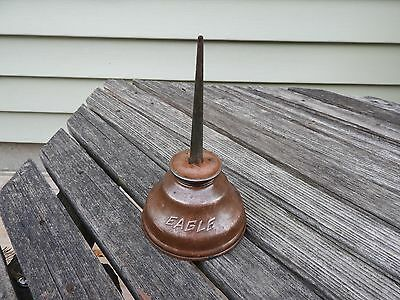 Vintage EAGLE  Copper Thumb Pump Oil Can  oiler