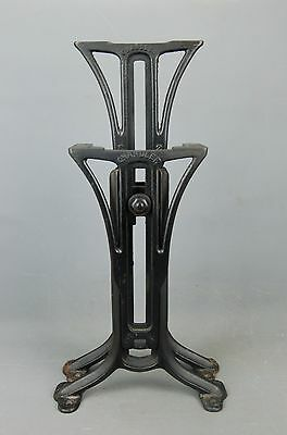 "Industrial Machine Age Steampunk Iron Adjustable Table Legs Base 24""H Chandler"
