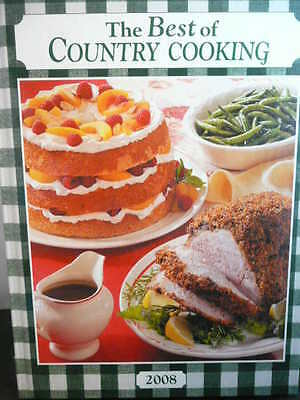 THE BEST OF COUNTRY COOKING 2008 Cookbook Cookbooks