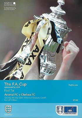 2002 FA CUP FINAL PROGRAMME>ARSENAL v CHELSEA May 2002 Millennium Stadium