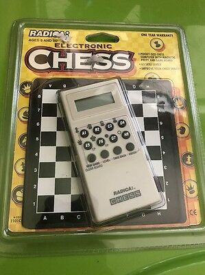 Radica Pocket Size Chess Electronic Game Sealed In Package Rare Vntg 1101 CS1