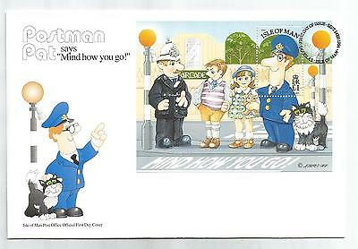 ISLE Of MAN 1994 POSTMAN PAT MINIATURE SHEET on FIRST DAY COVER