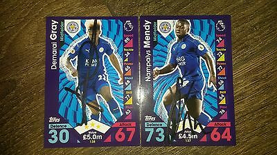 Gray & Mendy Hand Signed Leicester City 16/17 Match Attax Cards