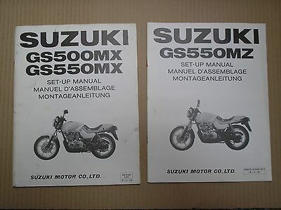 Suzuki GS550 GS550M GS550MX GS550MZ Katana genuine SET-UP ASSEMBLY manual x2