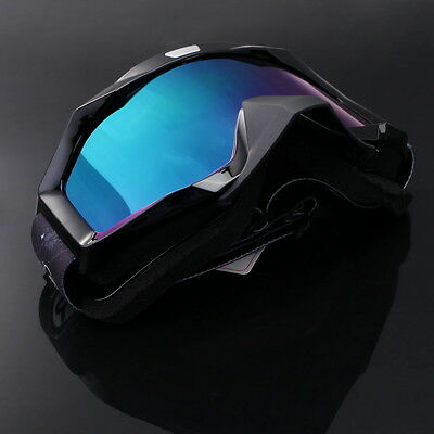Tinted Lens Motocross Scooter MX Atv Goggles Dirt Bike Eyewear Glasses Windproof