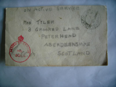 Ww2  Forces Christmas Card  To Peterhead