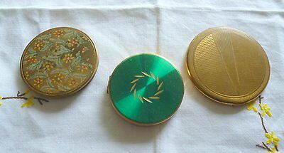 Selection of 3 Vintage Compacts