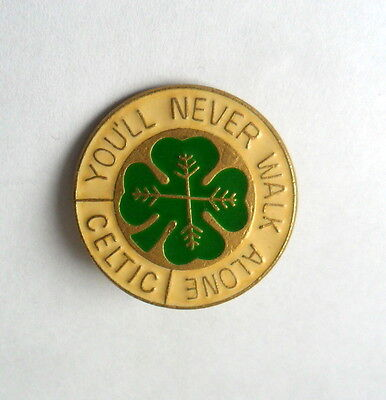Celtic Football Club Metal Pin Badge>You'll Never Walk Alone