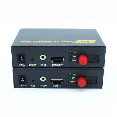 HDMI 1920x1080 60Hz To FC Optic Fiber Converter 20km Media Extender IR Transmit