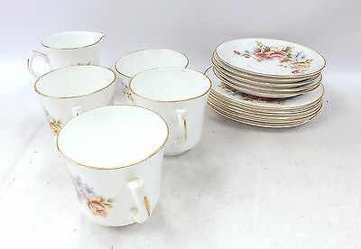 16 x Pieces Of ARKLOW TABLEWARE Nice Floral Design Unboxed - M32