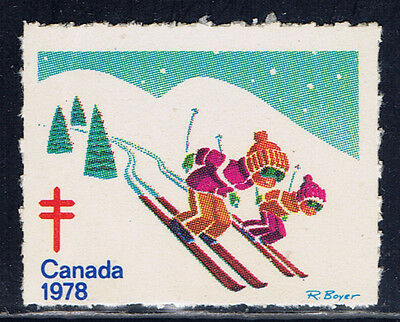 Canada #77(6) 1978 Christmas Seals CHILDREN SKIING MNH