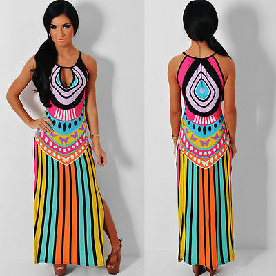 New Black Red Yellow Green Pink Blue Cruise Maxi Party Evening Dress 8 Rrp £75!