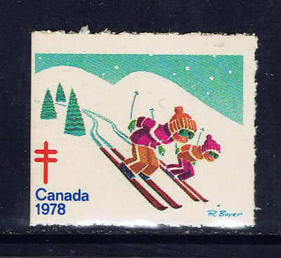 Canada #77(2) 1978 Christmas Seals CHILDREN SKIING MNH