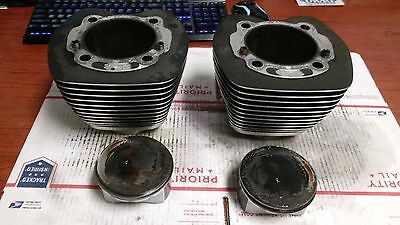 """Harley Davidson Black 103"""" Twin Cam Cylinders & Pistons USED 17460-07A 1690"""