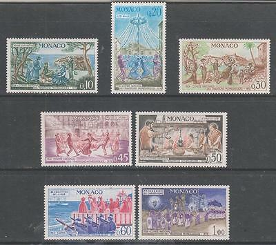 MONACO - 1973. Committee for Monegasque Traditions - Set of 7, MH