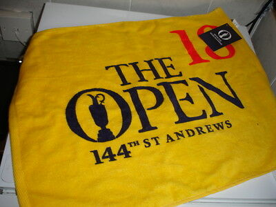 British Open St. Andrews Golf Towel 144th Open Championship  NEW WITH TAG