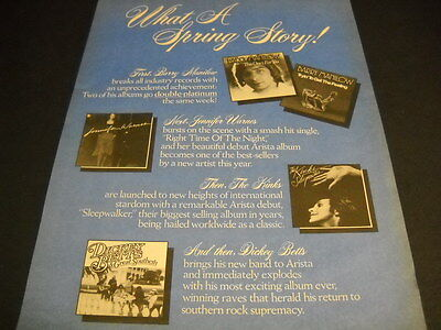 BARRY MANILOW Grateful Dead KINKS Eric Carmen DICKEY BETTS more 2-sided PROMO AD