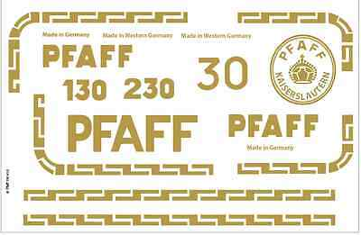 Pfaff Model 30 130 Sewing  Machine Restoration Decals