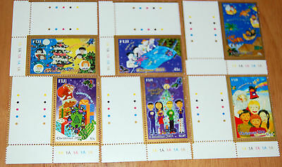 Christmas United Fiji For All 2003 Set Of Six Stamps MNH Traffic Light Borders