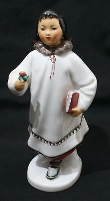 Beautiful Vintage Lomonosov Russian USSR Figure - Eskimo Girl