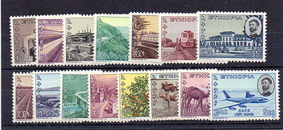 Ethiopia 1965 Def Set ( 15 ) Mnh Cat £37