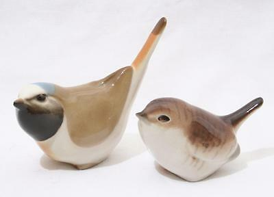 Beautiful Vintage Lomonosov Russian USSR Animal Figure x 2 - Bird inc Wren