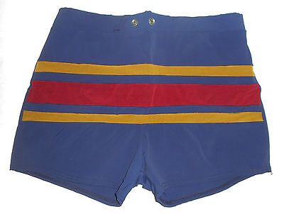 Vtg 50s BRENTWOOD Swim N Play Togs Board Shorts Trunks NAVY Mens USA NEW 36 / 38