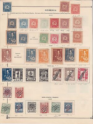 RUSSIA GEORGIA SCARCE COLLECTION LOT WITH SEMI POSTAL 33 STAMPS $$$$$$$ 99c NO R